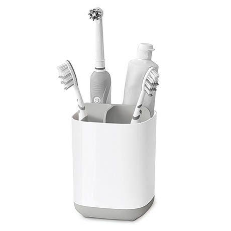 Joseph Joseph Easy-Store Toothbrush Caddy - White/Grey - 70509