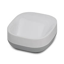 Joseph Joseph Slim Compact Soap Dish - White/Grey - 70511 Medium Image