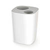 Joseph Joseph Split Bathroom Waste Separation Bin - White/Grey - 70514 Medium Image