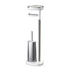 Joseph Joseph EasyStore Plus Freestanding Toilet Paper Holder with Flex Steel Toilet Brush - 70519 profile small image view 1