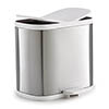 Joseph Joseph Split 6L Stainless Steel Bathroom Recycling Bin - 70520 Small Image