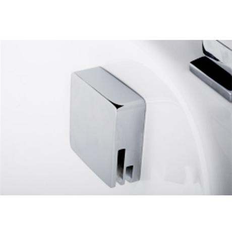 Tre Mercati - Square Automatic Bath Filler with Clicker Waste - Chrome Plated - 708B