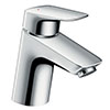 hansgrohe MyCube Single Lever Basin Mixer M 70 Tap with Pop Up Waste - 71010000 profile small image view 1