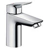 hansgrohe MyCube CoolStart Single Lever Basin Mixer L Tap with Pop-up Waste - 71016000 profile small image view 1