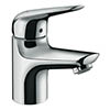 hansgrohe Novus CoolStart 70 Single Lever Basin Mixer with Push-open Waste - 71022000 profile small image view 1