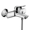 hansgrohe Novus Exposed Single Lever Bath Shower Mixer - 71040000 profile small image view 1