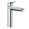 hansgrohe Logis Single Lever Basin Mixer 190 without Waste - 71091000 profile small image view 1