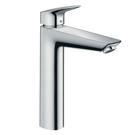 hansgrohe Logis Single Lever Basin Mixer 190 with 2 Flow Rates and Pop-up Waste - 71095000