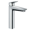 hansgrohe Logis Single Lever Basin Mixer 190 with 2 Flow Rates and Pop-up Waste - 71095000 profile small image view 1