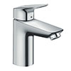 hansgrohe Logis Single Lever Basin Mixer 100 with Pop-up Waste - 71100000 profile small image view 1