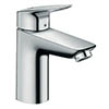 hansgrohe Logis Single Lever Basin Mixer 100 CoolStart with Pop-up Waste - 71102000 profile small image view 1