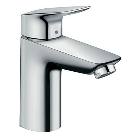 hansgrohe Logis Single Lever Basin Mixer 100 LowFlow with Pop-up Waste - 71104000