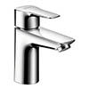 hansgrohe MySport L Single Lever Basin Mixer with Pop-up Waste - 71111000 profile small image view 1