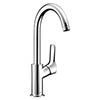 Hansgrohe MySport Single Lever Basin Mixer with Swivel Spout and Pop-up Waste - 71113000 profile small image view 1