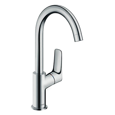 hansgrohe Logis Single Lever Basin Mixer 210 with Swivel Spout and Pop-up Waste - 71130000
