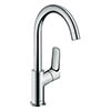 hansgrohe Logis Single Lever Basin Mixer 210 with Swivel Spout and Pop-up Waste - 71130000 profile small image view 1