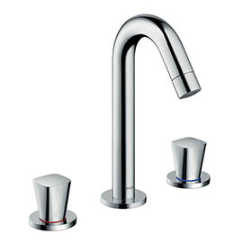 hansgrohe Logis 3-Hole Basin Mixer 150 with Pop-up Waste - 71133000