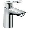 hansgrohe Logis Loop CoolStart Single Lever Basin Mixer 100 Tap with Pop-up Waste - 71154000 profile small image view 1