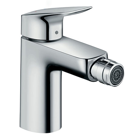 hansgrohe Logis Single Lever Bidet Mixer 100 with Pop-up Waste - 71200000