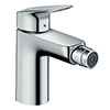 hansgrohe Logis Single Lever Bidet Mixer 100 with Pop-up Waste - 71200000 profile small image view 1