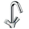 hansgrohe Logis 2-Handle Basin Mixer 150 with Pop-up Waste - 71222000 profile small image view 1