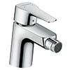 Hansgrohe MySport Single Lever Bidet Mixer 70 with Pop-up Waste - 71235000 profile small image view 1