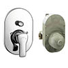 Hansgrohe MySport Concealed Bath Shower Mixer Set - 71246000 profile small image view 1