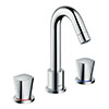 hansgrohe Logis 3-hole Deck Mounted Bath Mixer - 71300000 profile small image view 1