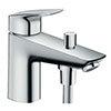 hansgrohe Logis Monotrou Single Lever Bath Shower Mixer - 71312000 profile small image view 1