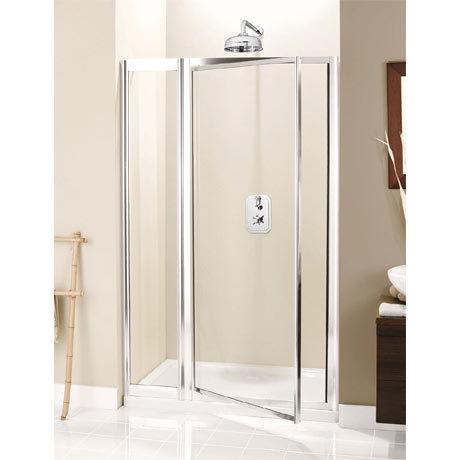 Simpsons - Supreme Pivot Shower Door with Inline Panel - 3 Size Options