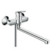 hansgrohe Logis Single Lever Manual Bath Mixer with Long Spout - 71402000 profile small image view 1