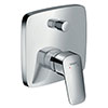 hansgrohe Logis Concealed Single Lever Manual Bath Mixer with Backflow Prevention - 71407000 profile small image view 1