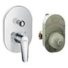 Hansgrohe Logis E Concealed Bath Shower Mixer Set - 71408000 profile small image view 1