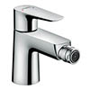 Hansgrohe Talis E Single Lever Bidet Mixer with Pop-up Waste - 71720000 profile small image view 1
