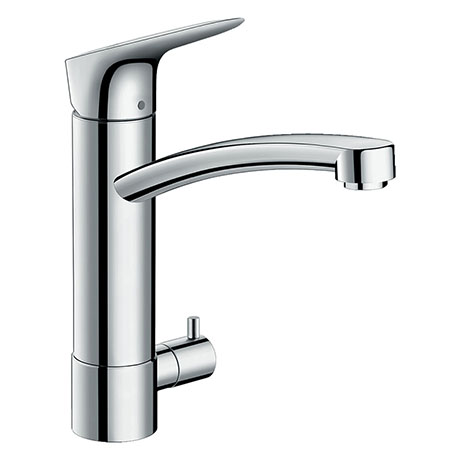 hansgrohe Logis M31 Single Lever Kitchen Mixer 220 with Shut-Off Valve - 71834000