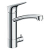 hansgrohe Logis M31 Single Lever Kitchen Mixer 220 with Shut-Off Valve - 71834000 profile small image view 1
