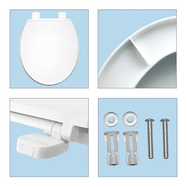 Bemis Chester Top Fixing Standard Toilet Seat - 7220AR000 profile large image view 3