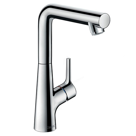 hansgrohe Talis S Single Lever Basin Mixer 210 with Swivel Spout and Pop-up Waste - 72105000
