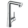 hansgrohe Talis S Single Lever Basin Mixer 210 with Swivel Spout and Pop-up Waste - 72105000 profile small image view 1