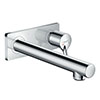 hansgrohe Talis S Wall Mounted Single Lever Basin Mixer with Waste (Long Spout) - 72111000 profile small image view 1