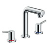 hansgrohe Talis S 3-Hole Basin Mixer with Pop-up Waste - 72130000 profile small image view 1