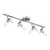 Searchlight Mars Chrome 4 Light Adjustable Bar Spotlight with Frosted Glass Diffuser - 7214CC-LED profile small image view 1