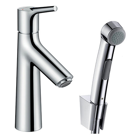 hansgrohe Talis S Single Lever Basin Mixer with Bidet Spray and 160cm Shower Hose - 72290000