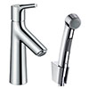 hansgrohe Talis S Single Lever Basin Mixer with Bidet Spray and 160cm Shower Hose - 72290000 profile small image view 1