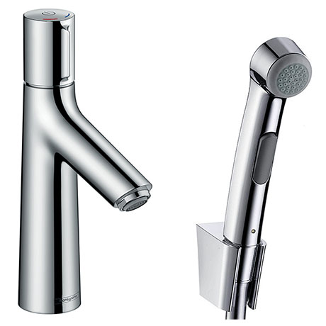 hansgrohe Talis Select S Basin Mixer with Bidet Spray and 160cm Shower Hose - 72291000
