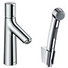 hansgrohe Talis Select S Basin Mixer with Bidet Spray and 160cm Shower Hose - 72291000 profile small image view 1