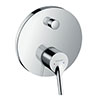 hansgrohe Talis S Concealed Single Lever Manual Bath Mixer - 72405000 profile small image view 1