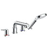 hansgrohe Talis S 4-hole Deck Mounted Bath Mixer for Secuflex - 72418000 profile small image view 1