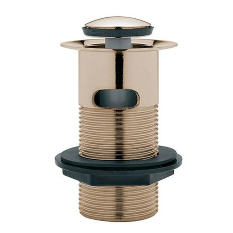 Tre Mercati Slotted Basin Pop-up Waste Finger Tip Control - Antique Gold - 726C