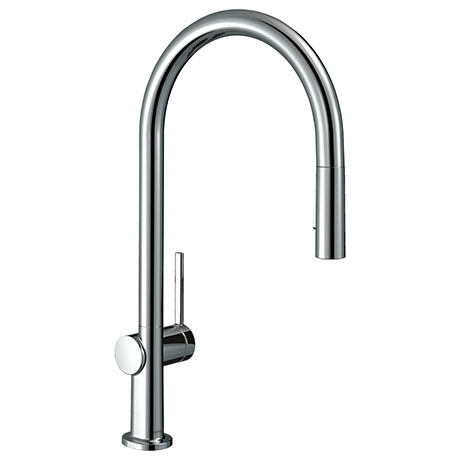 hansgrohe Talis M54 Single Lever Kitchen Mixer 210 with Pull Out Spray - Chrome - 72800000